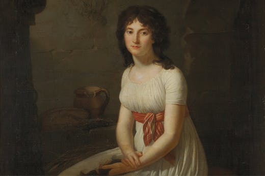 Citizen Tallien in a Cell in La Force Prison, Holding Her Cut Hair (detail), (1796), Jean-Louis Laneuville. Private collection. Photo: courtesy Yale University Press; © Christies Images/Bridgeman Images