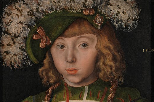 Portrait of Johann Friedrich the Magnanimous (detail; 1509), Lucas Cranach the Elder.