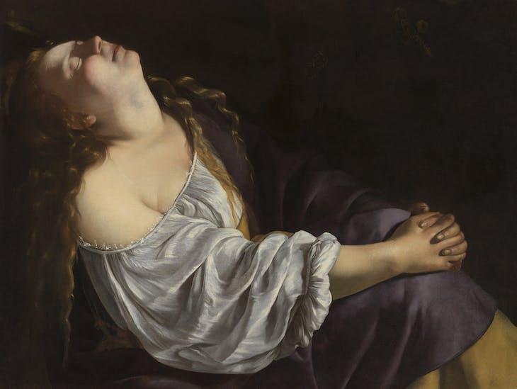 Mary Magdalene in Ecstasy (c. 1620–25), Artemisia Gentileschi.