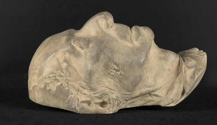 A cast of Fryderyk Chopin's death mask, after after a positive cast by Jean-Baptiste Clésinger from 1849 (2003). Fryderyk Chopin Museum, Warsaw