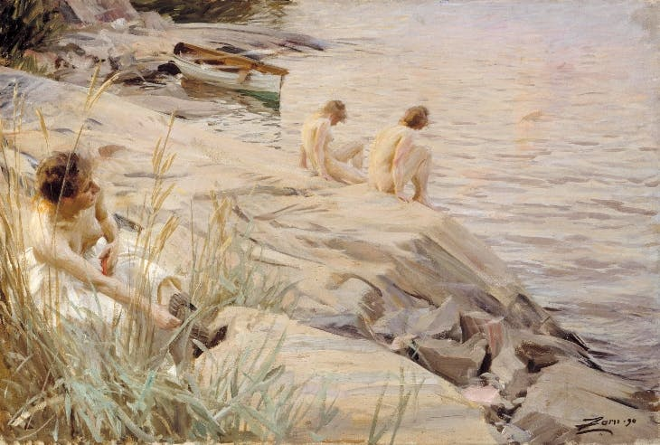 Girls Bathing in the Open Air (Out of Doors) (1890), Anders Zorn.