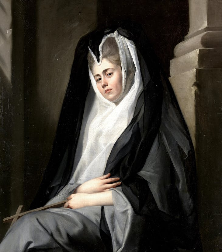 Mrs Mary Robinson in the Character of a Nun (c. 1780), John Singleton Copley