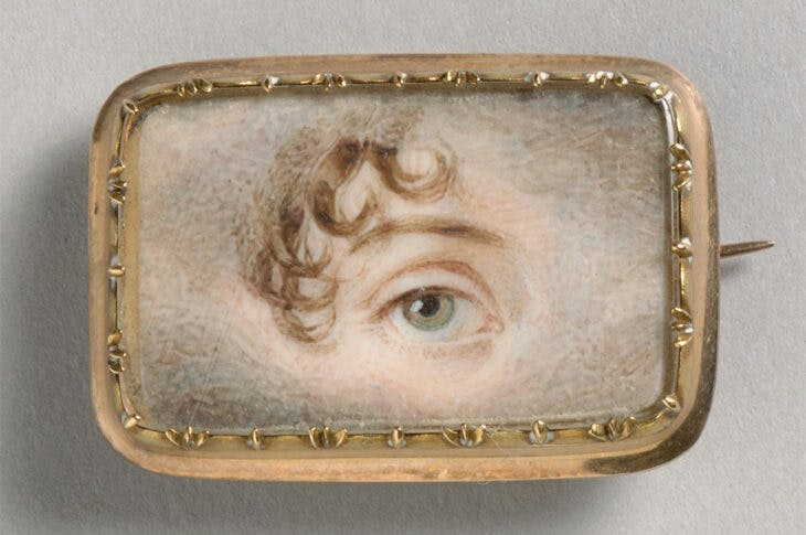 Portrait of a Left Eye (c. 1800), England. Philadelphia Museum of Art