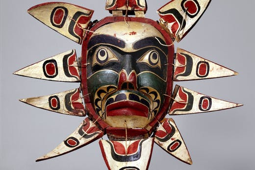 Mask (detail; c. 1910), Kwakwaka'wakw people.