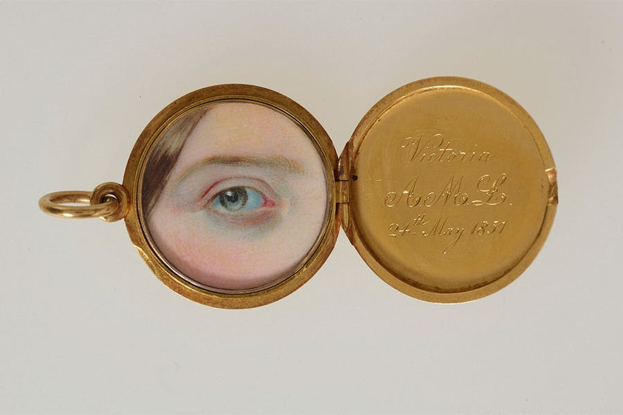 Eye miniature of Victoria, Princess Royal, probably commissioned by Queen Victoria in 1857.