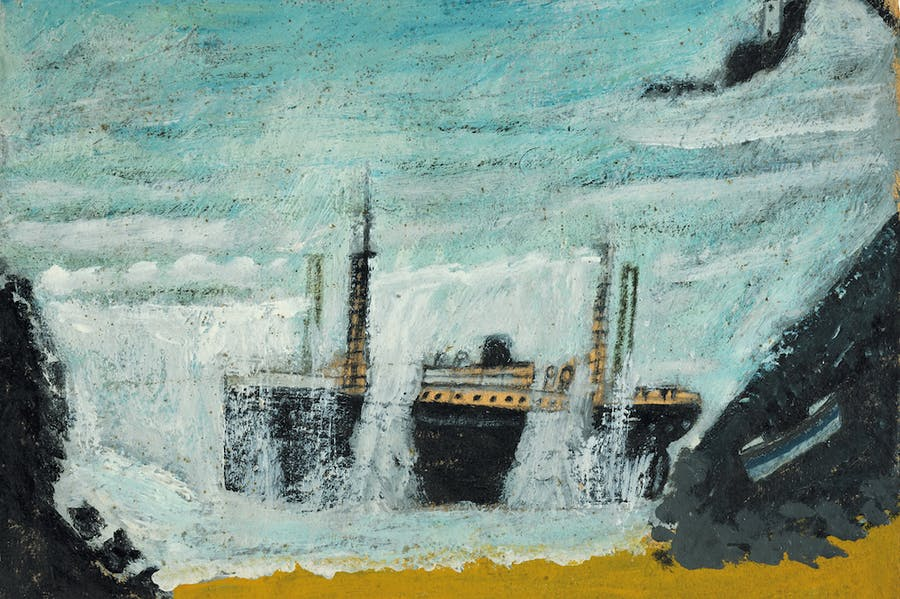 Shipwreck 1 – The Wreck of the Alba (detail; 1938), Alfred Wallis.