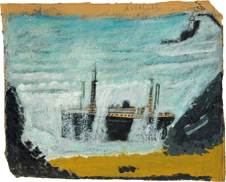 Shipwreck 1 – The Wreck of the Alba (1938), Alfred Wallis.