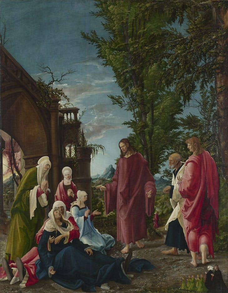 Christ taking Leave of his Mother (c. 1518–20), Albrecht Altdorfer. © The National Gallery, London
