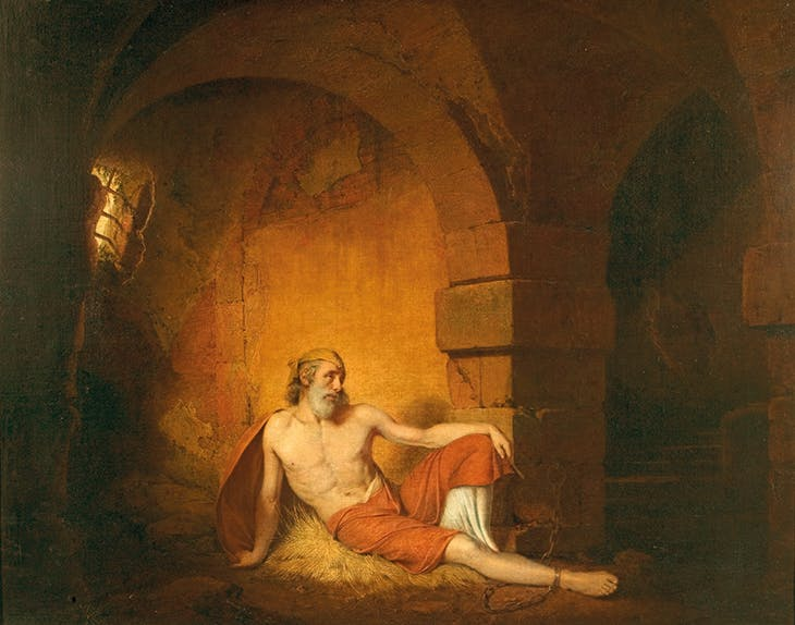 The Captive from Sterne (1775–77), Joseph Wright of Derby. Derby Museum and Art Gallery