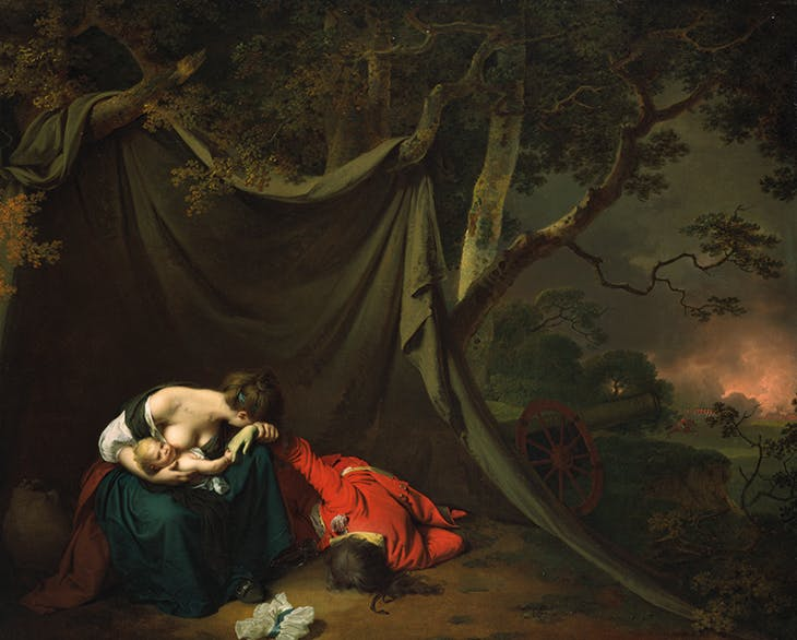 The Dead Soldier (1789), Joseph Wright of Derby. Fine Arts Museum of San Francisco