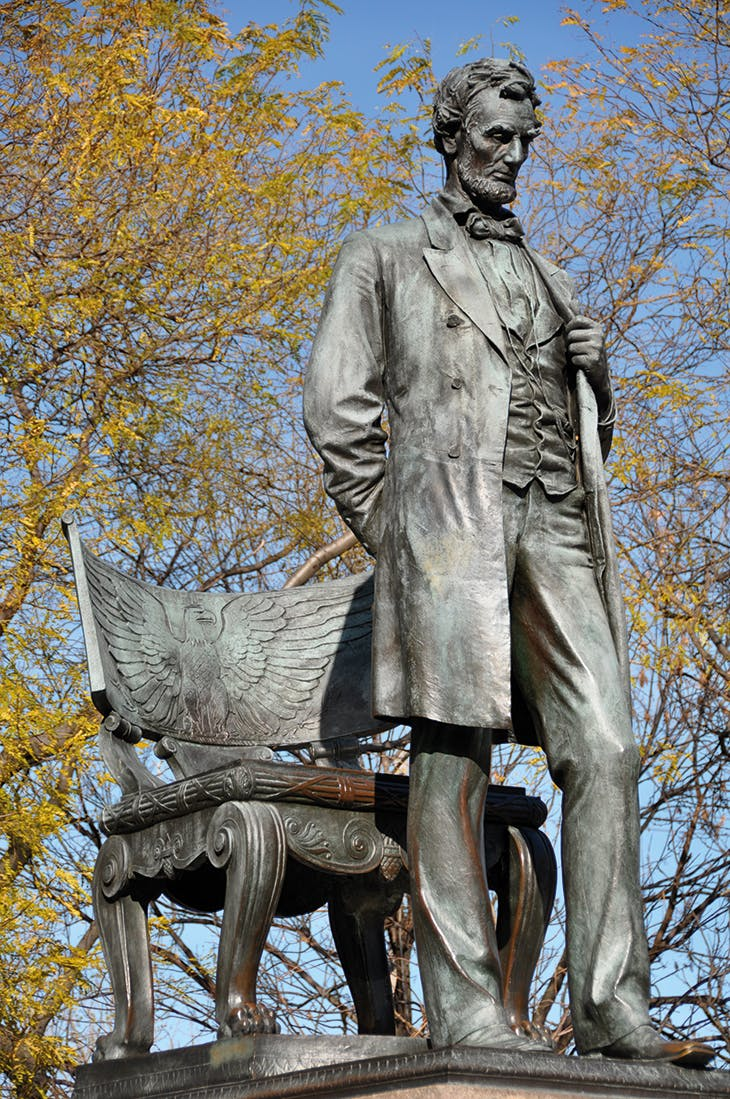 Abraham Lincoln: The Man (1887), Augustus Saint-Gaudens, installed in Lincoln Park, Chicago.