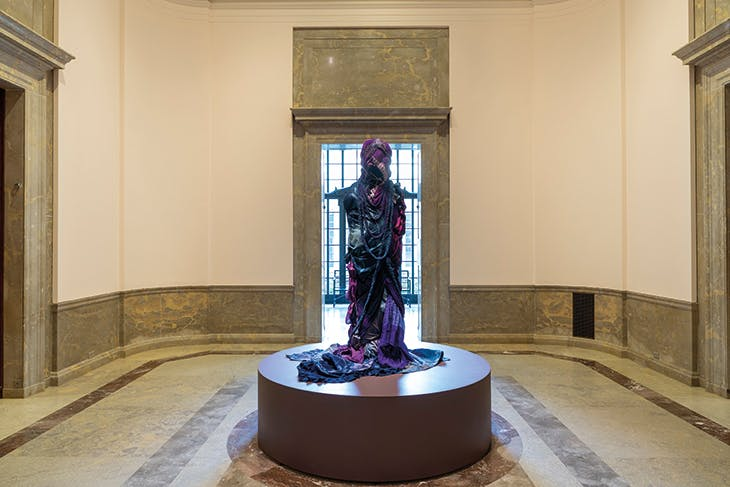 Grace Stands Beside by Shinique Smith, installed at the Baltimore Museum of Art (until 3 January 2021).