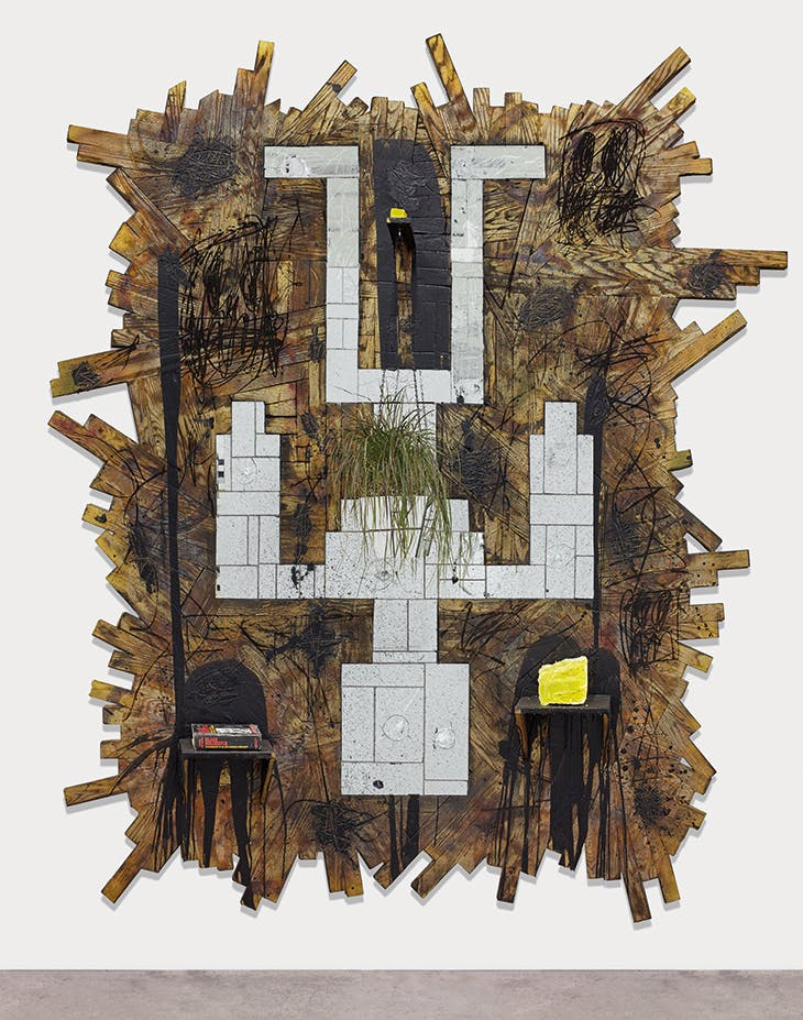 Falling Man (2016), Rashid Johnson.