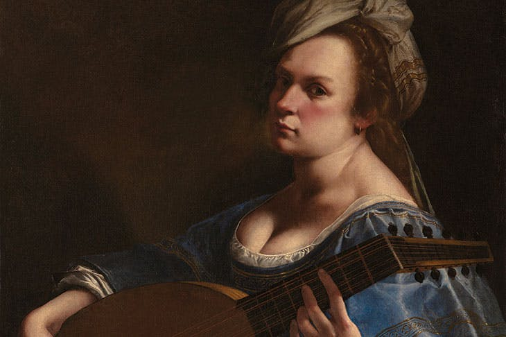 Self-Portrait as a Lute Player (detail; c. 1615–17), Artemisia Gentileschi. Wadsworth Atheneum Museum of Art, Hartford