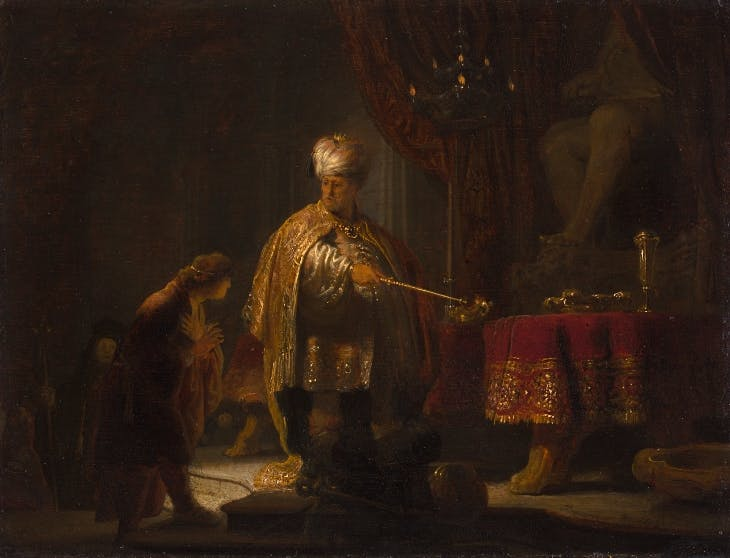 Daniel and Cyrus Before the Idol Bel (1633), Rembrandt.
