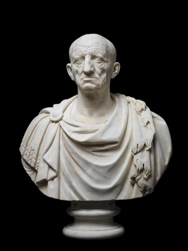 Head of an old man from Otricoli (c. 75–50 BC), Roman.