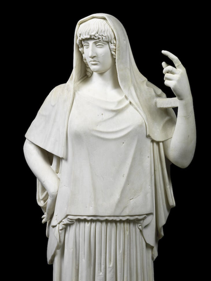 Statue of a goddess, called the Hestia Giustiniani (c. 470 BC), Rome.