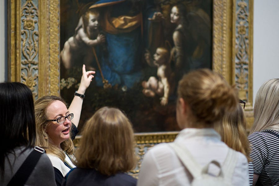 A museum visit conducted by the education charity Art History Link-Up.