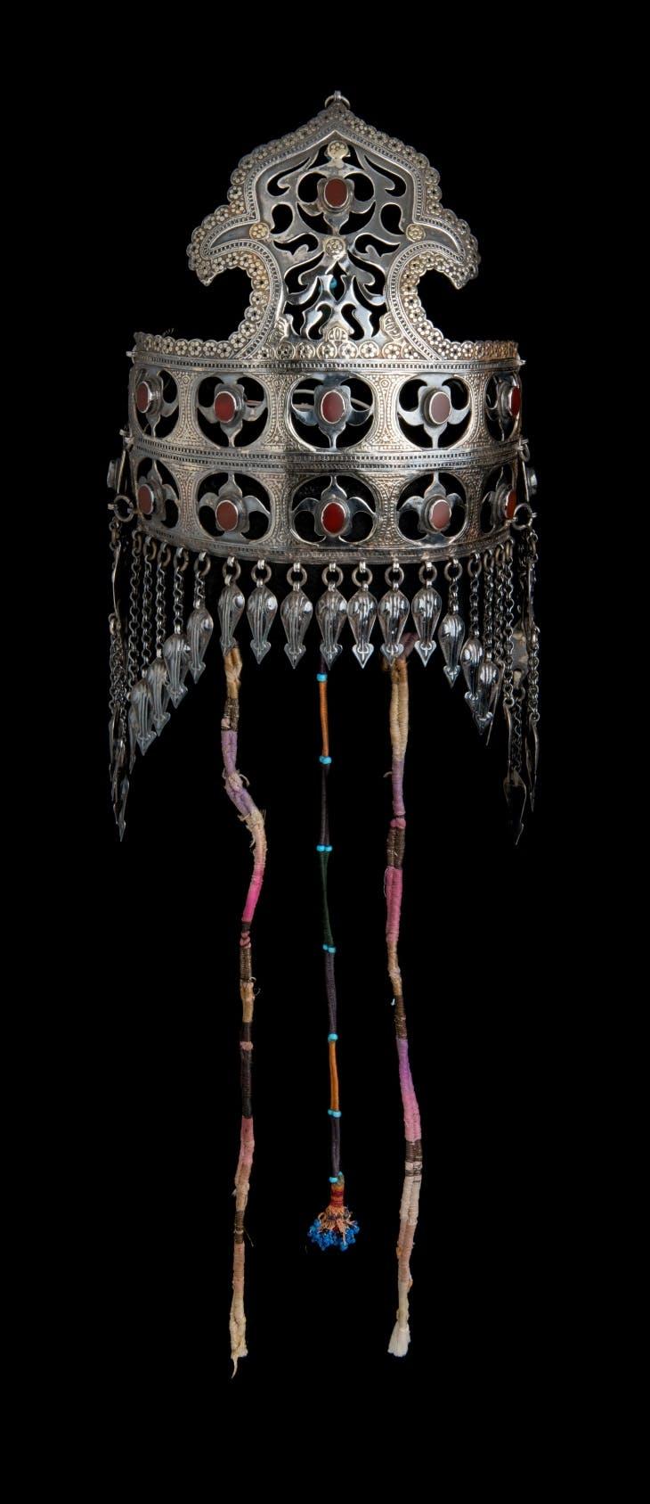 Headdress or Bridal Diadem (late 19th to early 20th century), Turkmenistan (Yomud, Teke, Nochuoli).