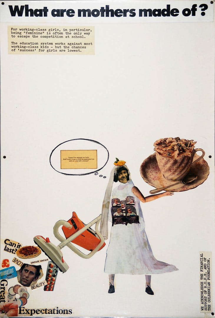 Exhibition panel from the Hackney Flashers' 'Who's Holding the Baby?' (1978)