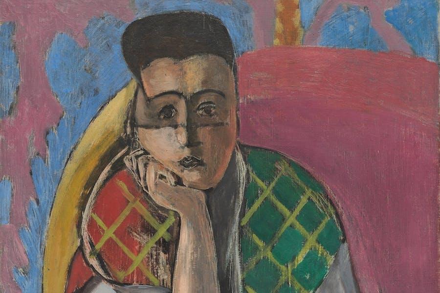 Femme à la voilette (detail; 1927), Henri Matisse. 1927.