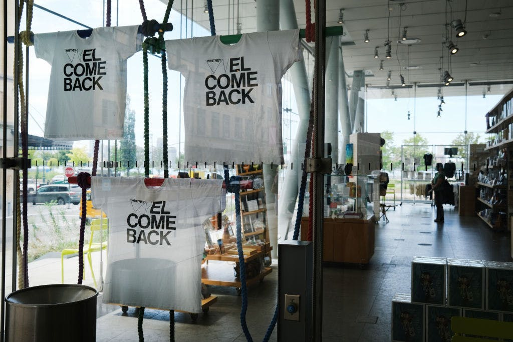 The gift shop at the newly reopened Whitney Museum of American Art, New York, in September 2020.