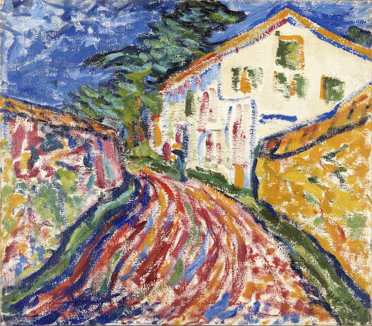 House in Dangast (The White House) (1908), Erich Heckel.