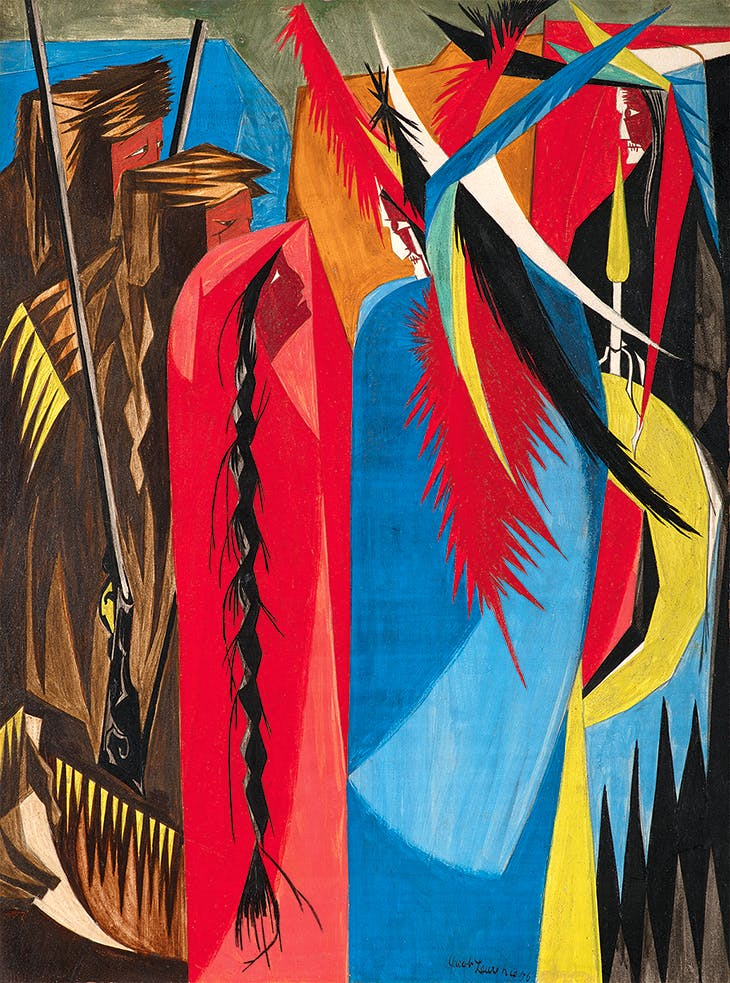 Panel 18 (1956) from 'Struggle: From the History of the American People' (1954–56), Jacob Lawrence. Collection of Harvey and Harvey-Ann Ross.