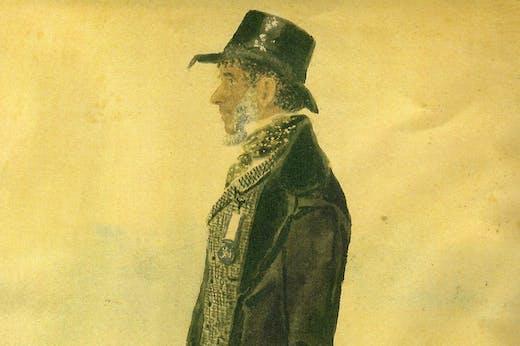 John Simmons (detail; 1847), artist unknown.