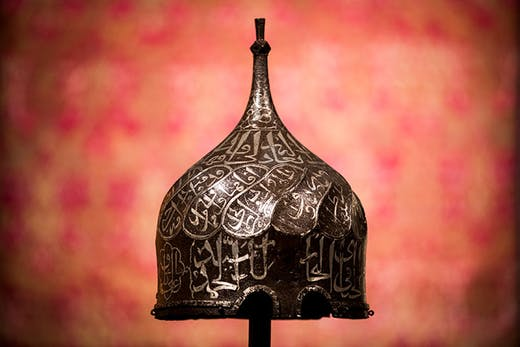 Aq Qoyunlu turban helmet (second half 15th century), Turkey or Persia. Sotheby's, London (estimate £400,000–£600,000)
