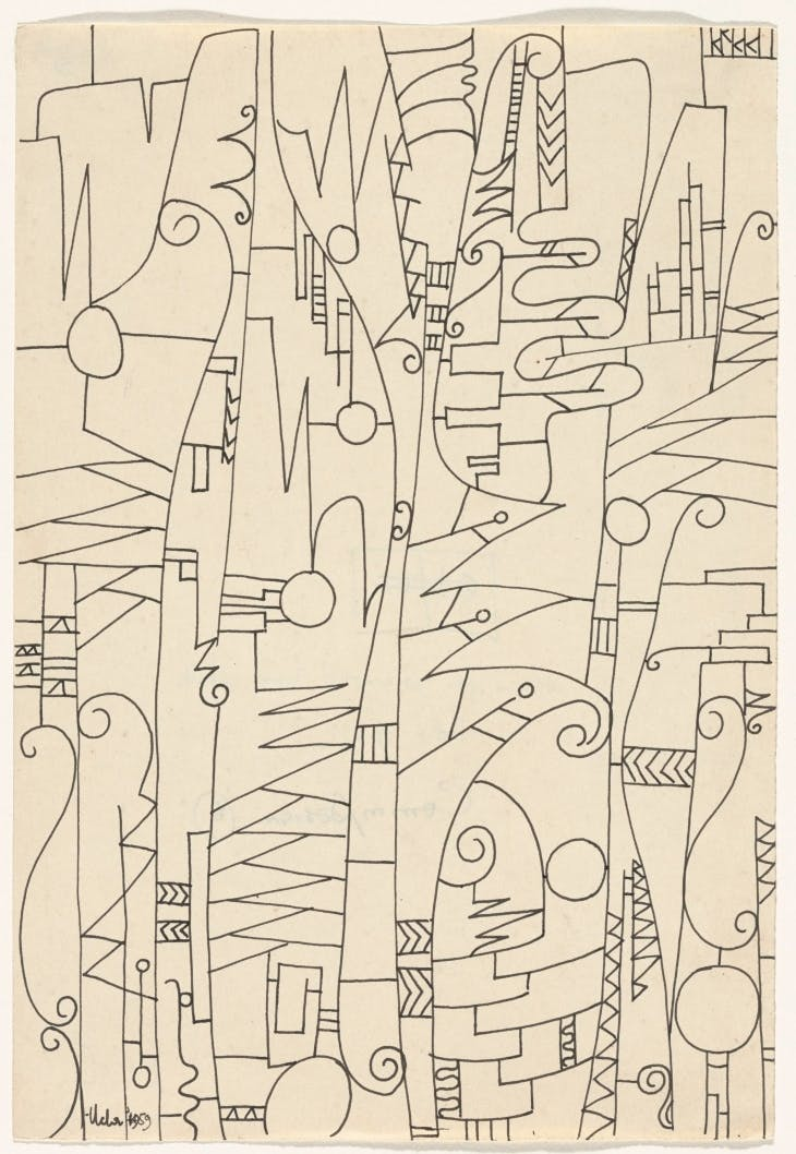 Design for Iron Work I (1959), Uche Okeke.