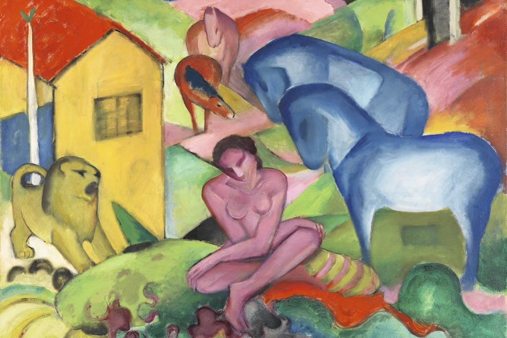 The Dream (detail; 1912), Franz Marc.