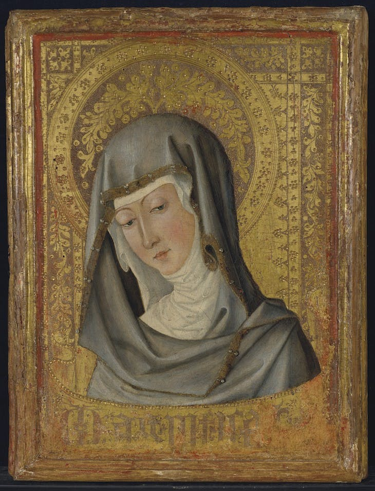 Head of the Virgin Mary (mid 15th century), artist unknown.