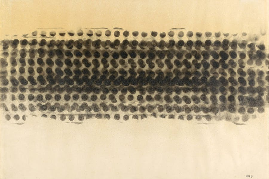 Untitled (Smoke Drawing) (1959), Otto Piene. Museum of Modern Art, New York.
