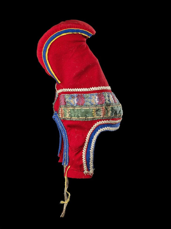 Woman's hat (before 1919), Sámi, Norway.