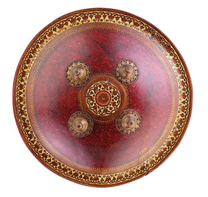Dhal (shield) (19th century), Gujarat, India. Runjeet Singh (price on application)
