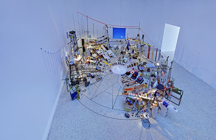 Triple Point (Pendulum) (2013) Sarah Sze.