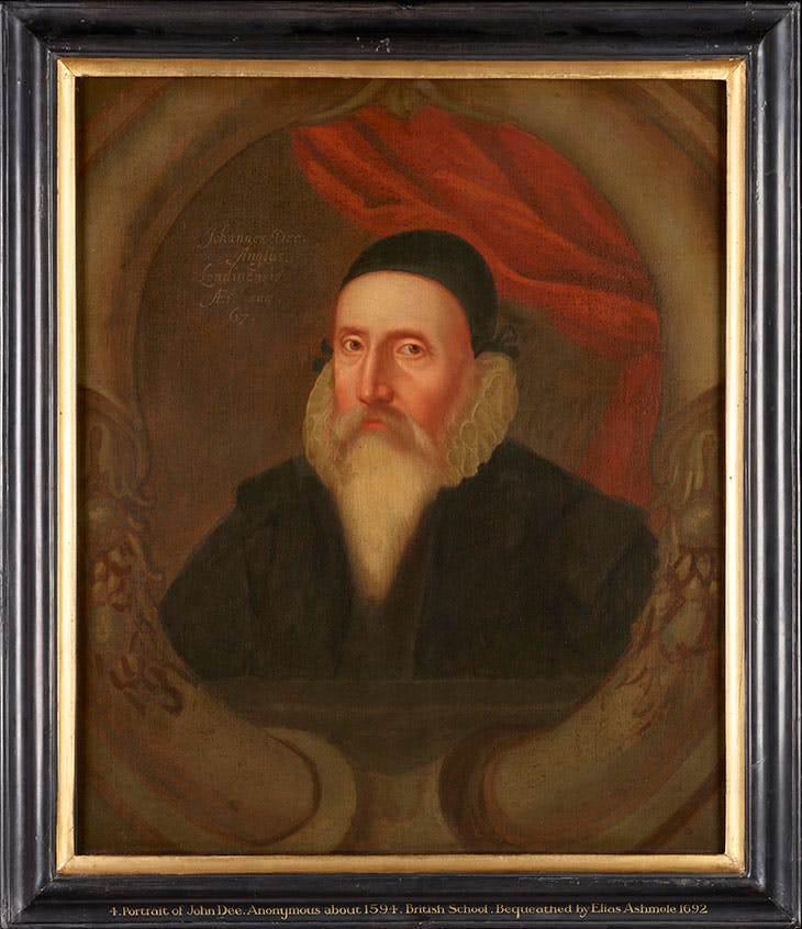 Portrait of John Dee (c. 1594), artist unknown. Ashmolean Museum, University of Oxford