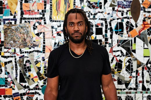 Rashid Johnson, photographed in his studio in New York in 2020.