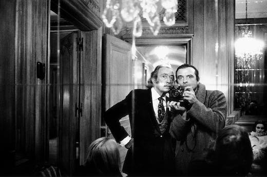 'Me and Dali in New York', 1972, David Bailey.
