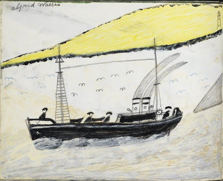 Drawing from sketchbook (1941–42), Alfred Wallis.
