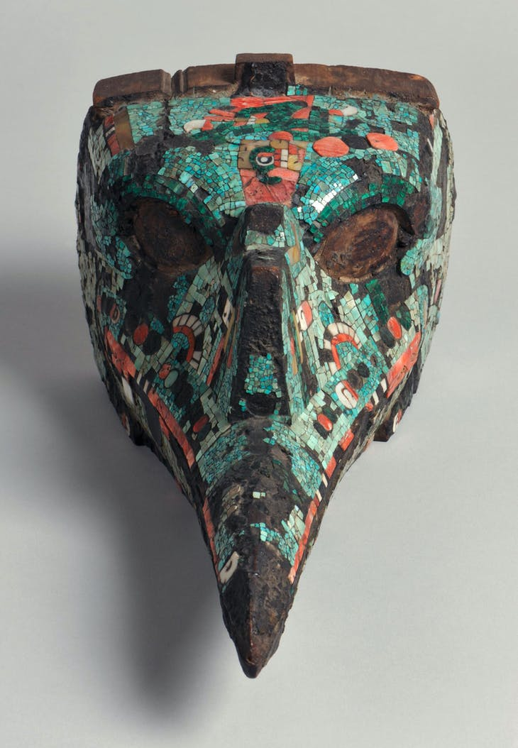 Bird head mask (c. 1350–1521 AD), Aztec, Mexico.