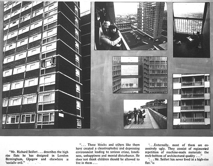 Exhibition panel from 'Problem in the City', Bristol, June 1975. Photos: Nick Hedges (above right and centre and below centre), Ron McCormick (above left, centre below, centre), Larry Herman (above left)