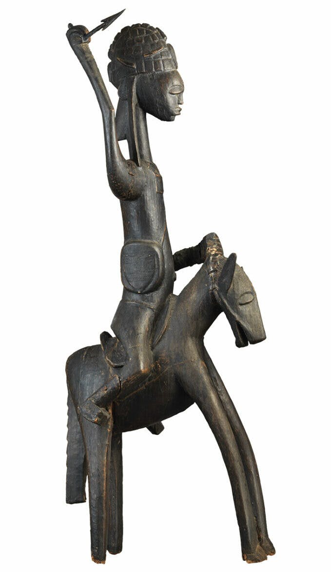 Equestrian figure (19th–20th century), Bamana, Mali. Private collection.