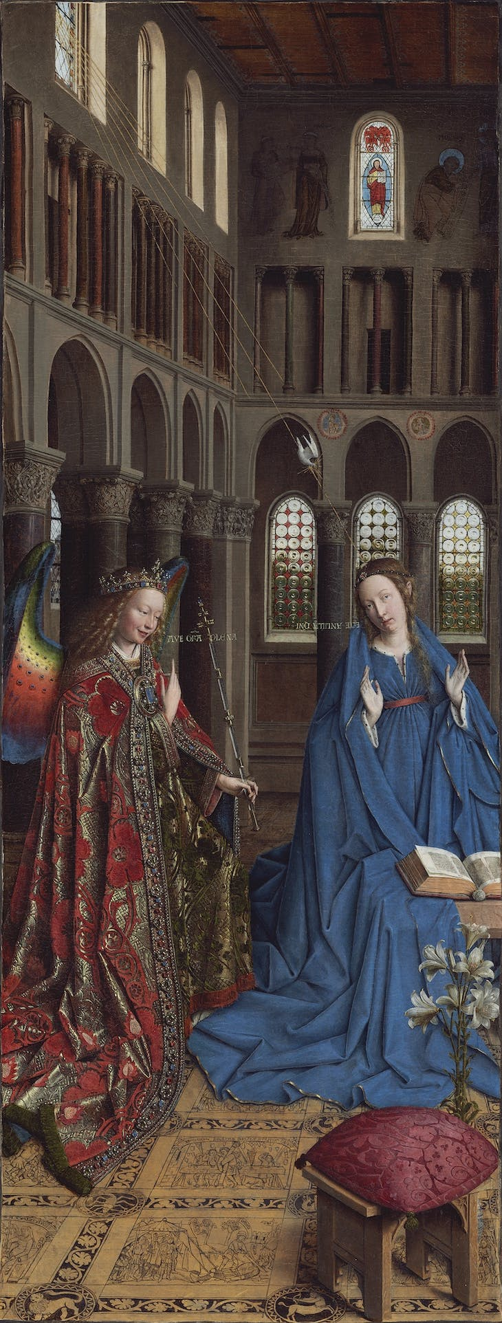 The Annunciation (c. 1434–36), Jan van Eyck.