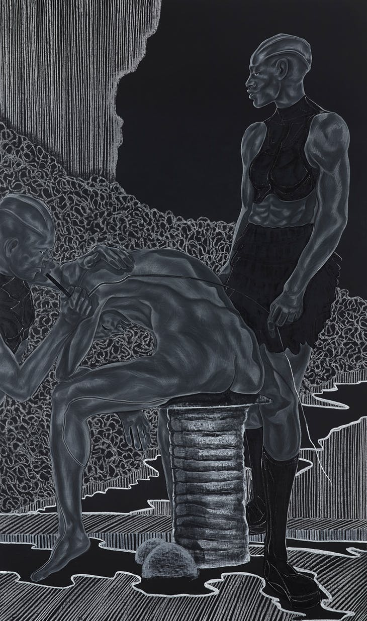 This is How You Were Made; Final Stages from A Countervailing Theory (2019), Toyin Ojih Odutola.