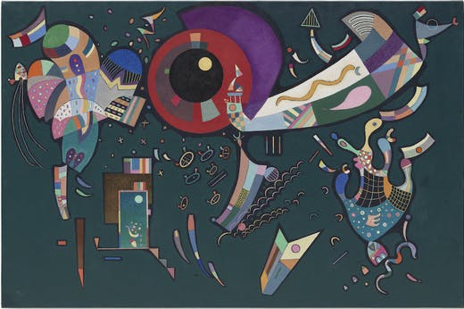 Around the Circle (1940), Vasily Kandinsky.