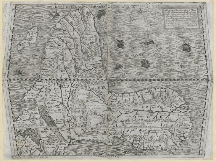 Prima Tavola (1565), Ferando Bertelli.