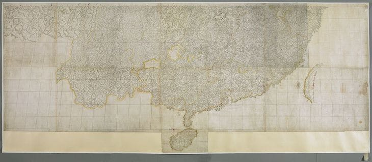 A map of China and surrounding lands, known as the Kangxi map (c. 1719), Matteo RIpa.