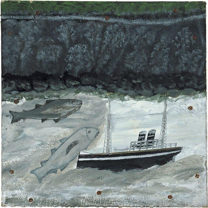 Land, fish and motor vessel (c. 1932–37), Alfred Wallis.